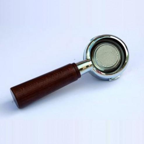 La Pavoni Filter holder Fascino Bottomless Chrome Wood Handle